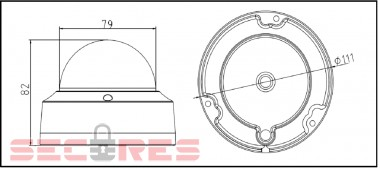 DS-2CD2110F-I габариты