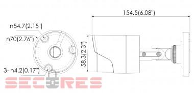 DS-2CE16D0T-IR размеры