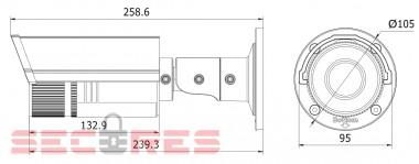 DS-2CD2632F-IS размеры