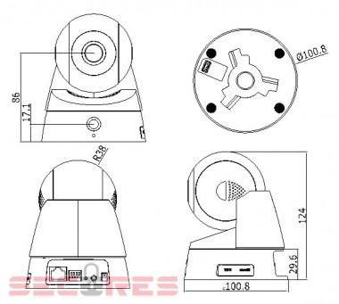 DS-2CD2Q10FD-IW размеры