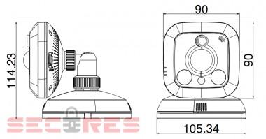 DS-2CD2C10F-IW размер