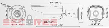 DS-2CD2T32-I5 размеры